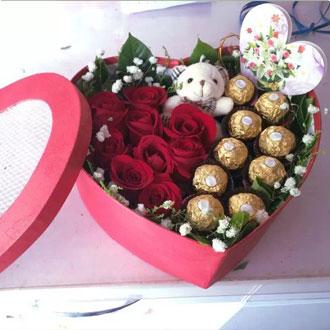 爱心巧克力花