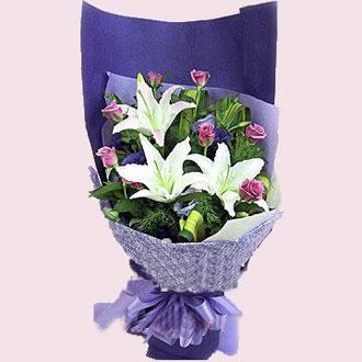 9枝紫玫瑰/爱你如一