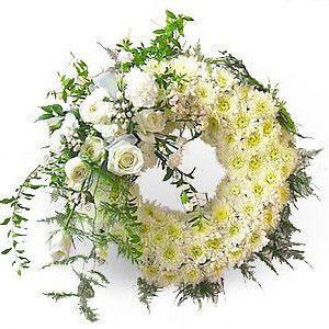 60朵白菊花圈