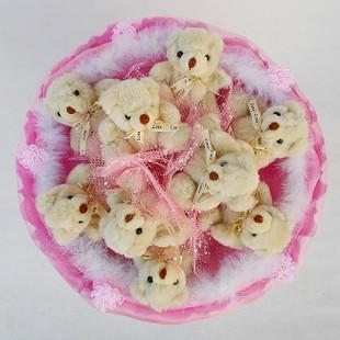 甜蜜蜜 小熊花束