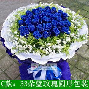 33朵蓝色妖姬(新)
